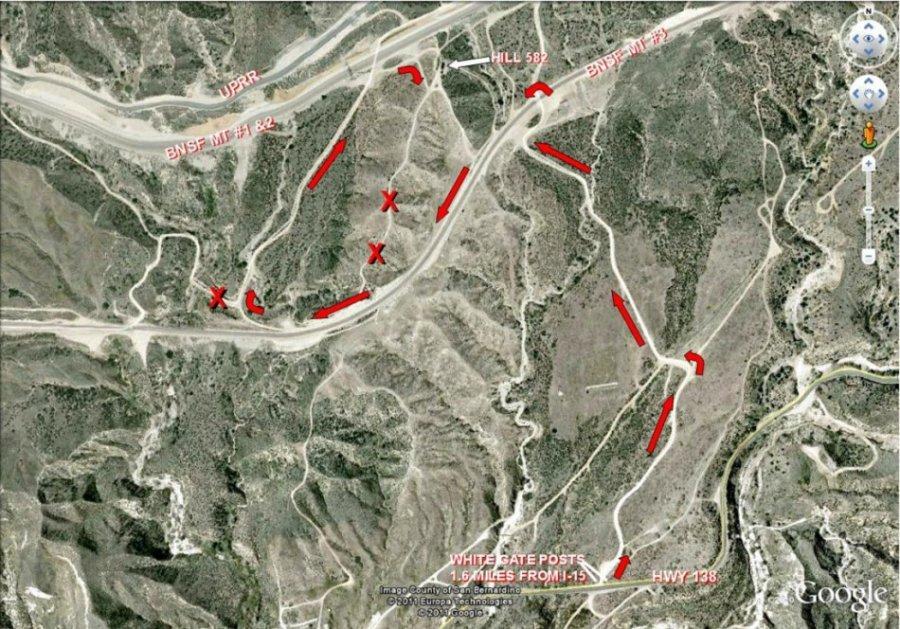 Cajon Pass Fire Map.Cajon Pass History Of Hill 582 By Don E Toles