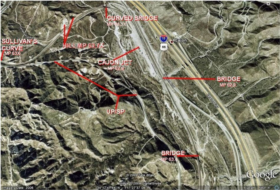 Maps Cajon Pass (Google) by