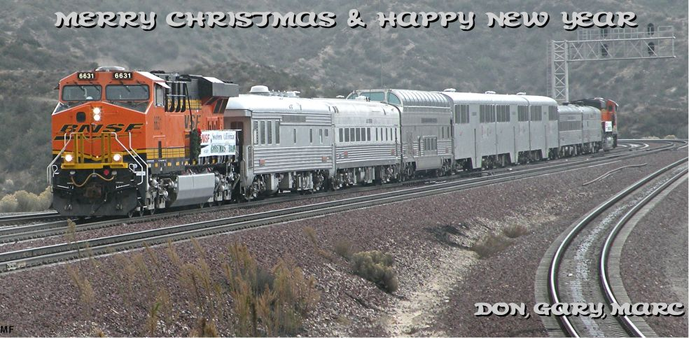 MF 12/18/10 BNSF 6631 WB Christmas Train 2010 at WSI (West Summit