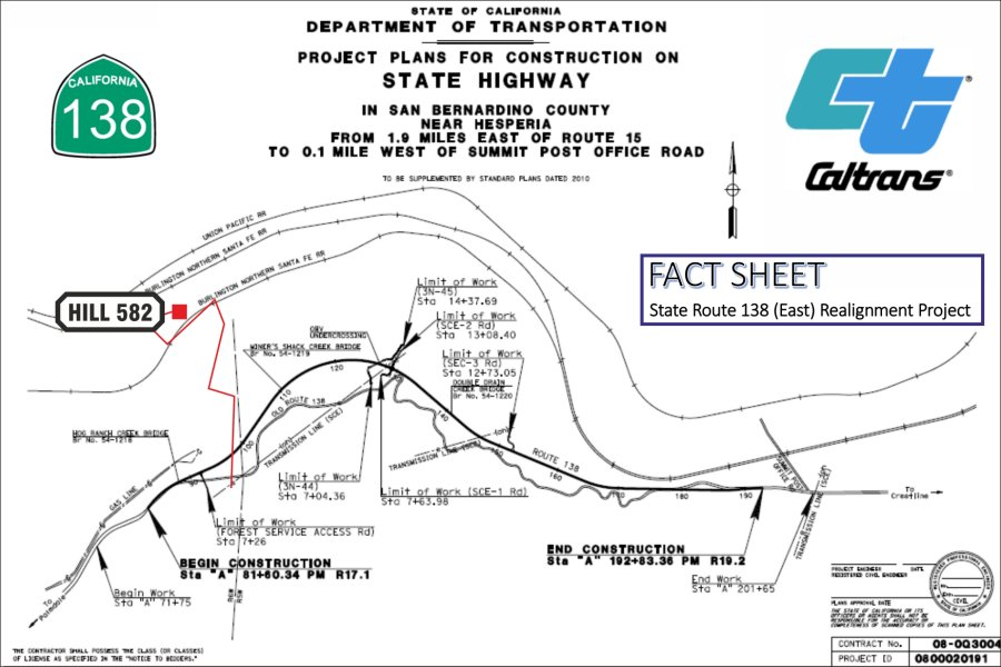 Caltran Traffic Map.Cajon Pass California Highway 138 East Realignment Project