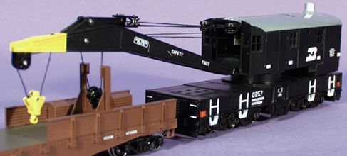 Books For Sale >> Athearn: 200-Ton Crane w/Flat, BN, CN, UP