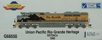 New Trucks For Sale >> HO Scale: ATH Genesis SD70ACe UP/RG Heritage Unit