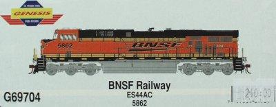 HO Scale: ATH Genesis 69704, GE ES44AC BNSF