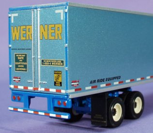 Werner Enterprises Trucks and Trailers as scale models in ...