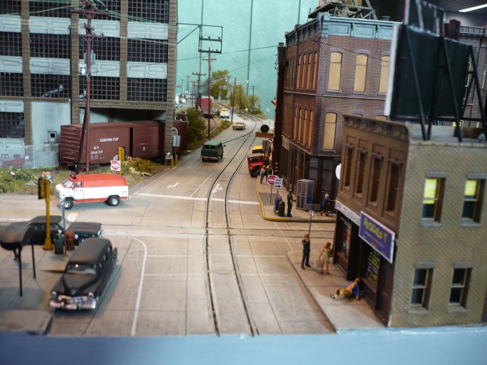ho scale layout  city limits  germany