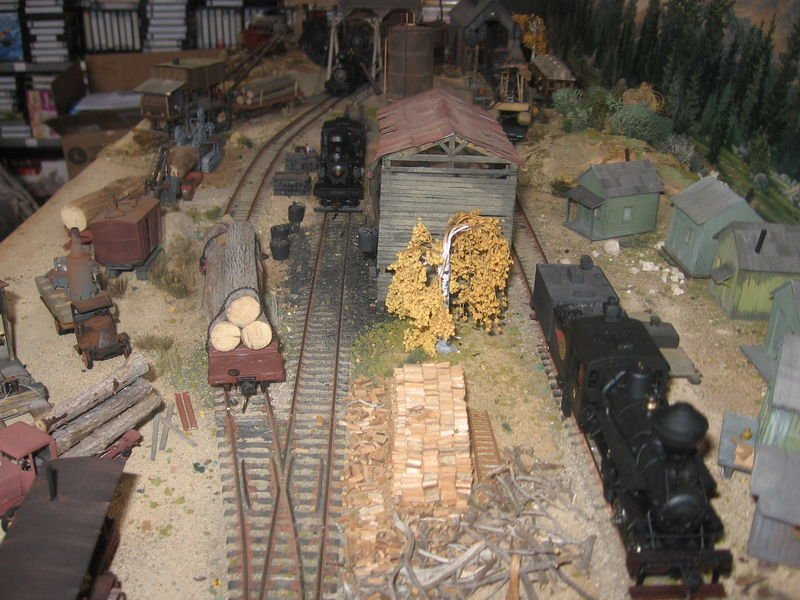 ho scale layout  logging museum by guy tyteca  belgium