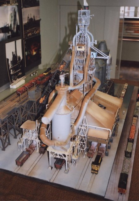 ho scale diorama  blast furnace by roy genkinger  switzerland